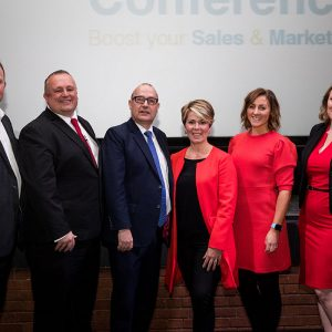Andy Preston, Simon Hazeldine, Jeremy Nicholas, Penny Haslam, Katie Bulmer-Cooke and Julie Holmes at Ambition 2017