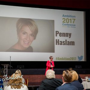 Penny Haslam presenting at Ambition 2017