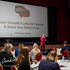 Penny Haslam speaking at Ambition 2017