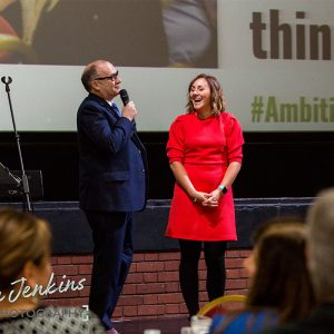 Katie Bulmer-Cooke and Jeremy Nicholas at Ambition 2017